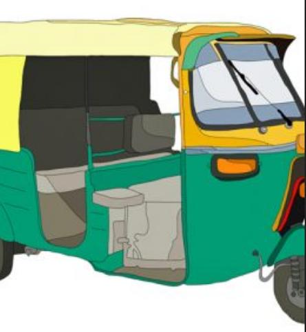 Auto rickshaw cartoon clipart graphic free Auto Rickshaw 6 Months Advertising Services in Bandlaguda Jagir ... graphic free