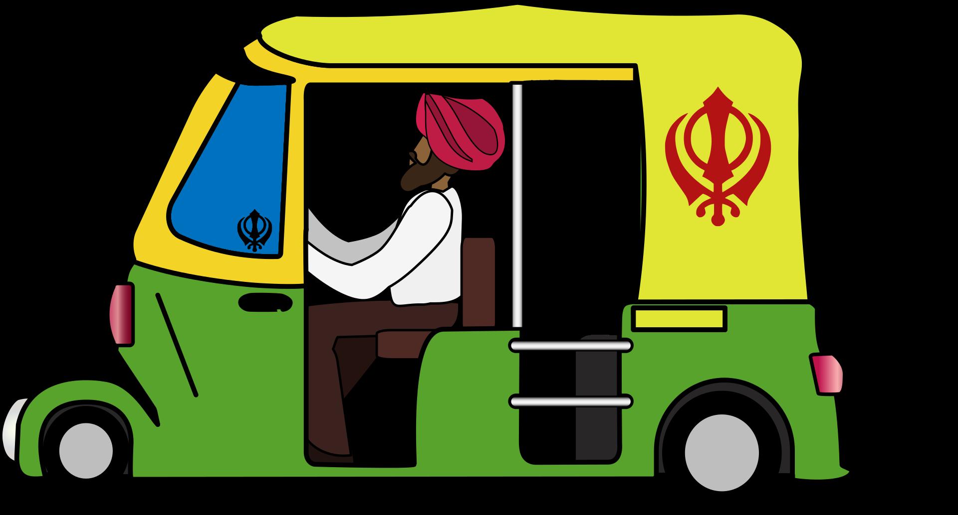 Auto rickshaw cartoon clipart picture freeuse library svg transparent download Nina garman autorickshaw. Back clipart auto ... picture freeuse library