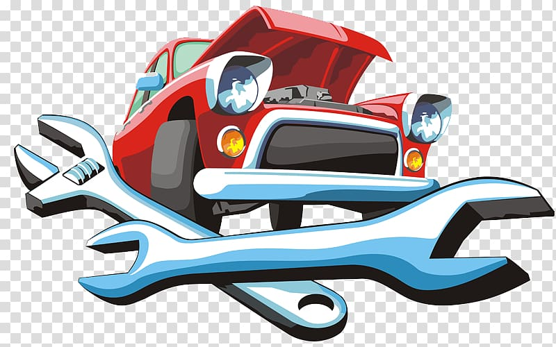 Auto service clipart jpg freeuse library Red car illustration, Car Automobile repair shop Auto mechanic Motor ... jpg freeuse library