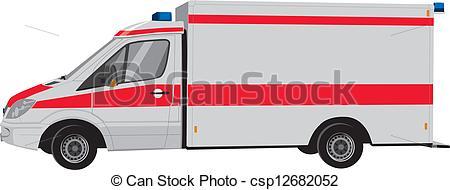 Auto von der seite clipart jpg free library Clipart Vector of Krankenwagen von der Seite csp12682052 - Search ... jpg free library
