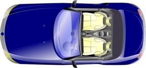 Auto von oben clipart. R ckansicht clip art