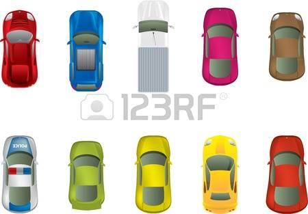 pink car stock. Auto von oben clipart