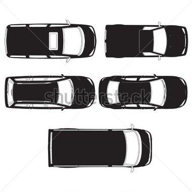 Auto von oben clipart. Gallery for van top