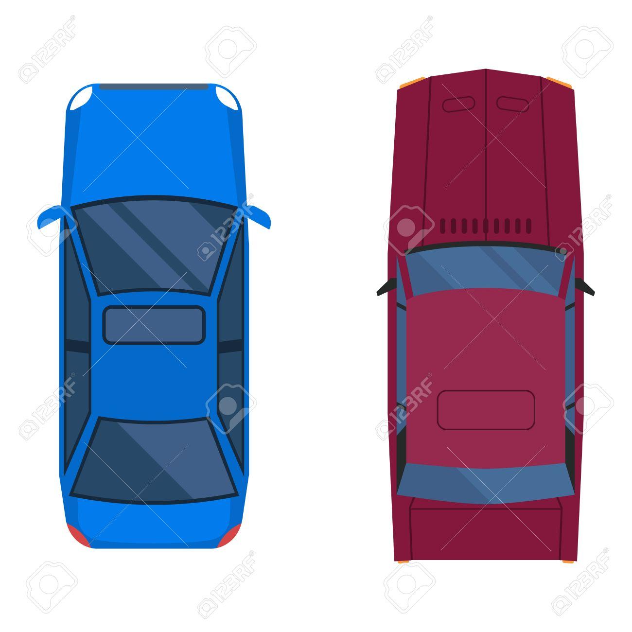 Auto von oben clipart jpg free stock Vector Autos Symbol Isoliert. Von Oben Auto Draufsicht ... jpg free stock