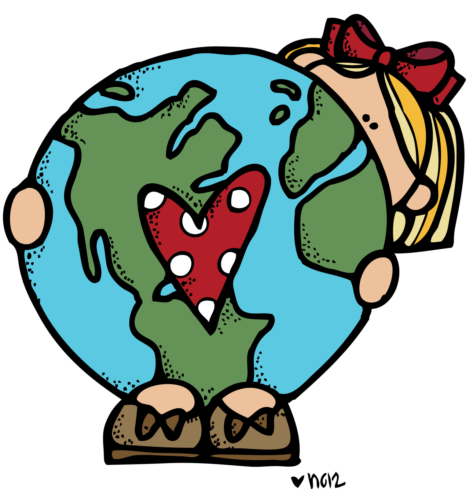 Earth heart clipart vector freeuse download MelonHeadz: Earth day images:) | Earth Day | Pinterest | Earth, Clip ... vector freeuse download