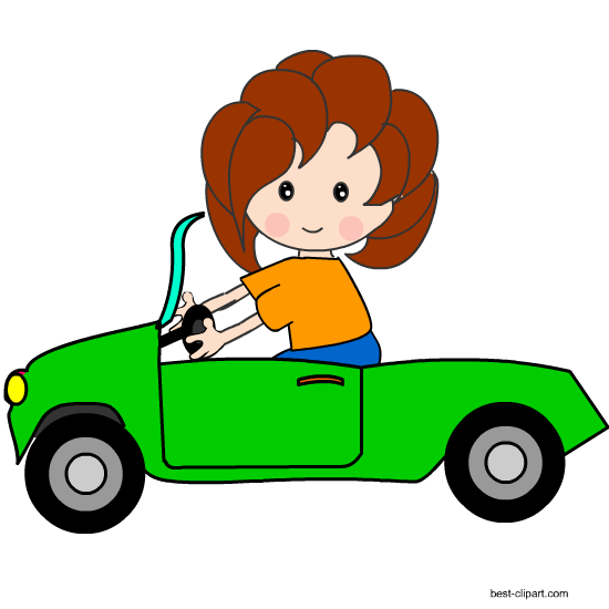 Automotive girl clipart clipart black and white library Girl in car clipart clipart images gallery for free download | MyReal clipart black and white library