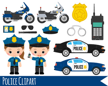 Automotive girl clipart jpg transparent download Kids Police Clipart, Girl and Boy Police Clipart, Police Car & bike clipart jpg transparent download