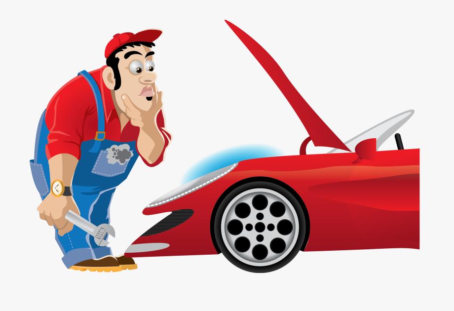 Automotive mechanic clipart images image Clip Art Working On Car Banner - Mechanic Clipart, Cliparts ... image