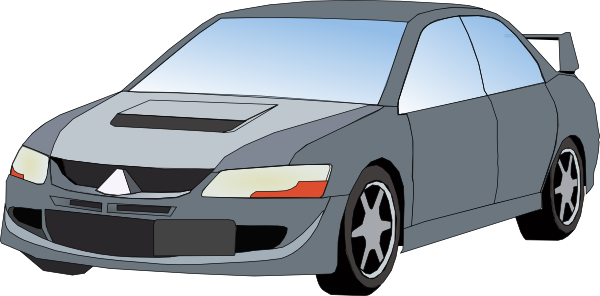 Automovil clipart graphic freeuse Mitsubishi Evo Clip Art at Clker.com - vector clip art online ... graphic freeuse