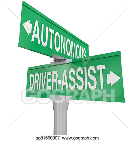 Autonomy 3d clipart images free Clipart - Autonomous driving vs driver assist features technologies ... free