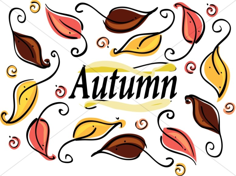 Autumn begins clipart clip art Many Autumn Leaves Clipart | Christian Calendar Clipart clip art