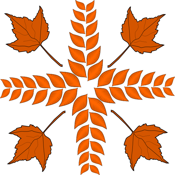Leaves Cross Clip Art at Clker.com - vector clip art online, royalty ... image black and white stock