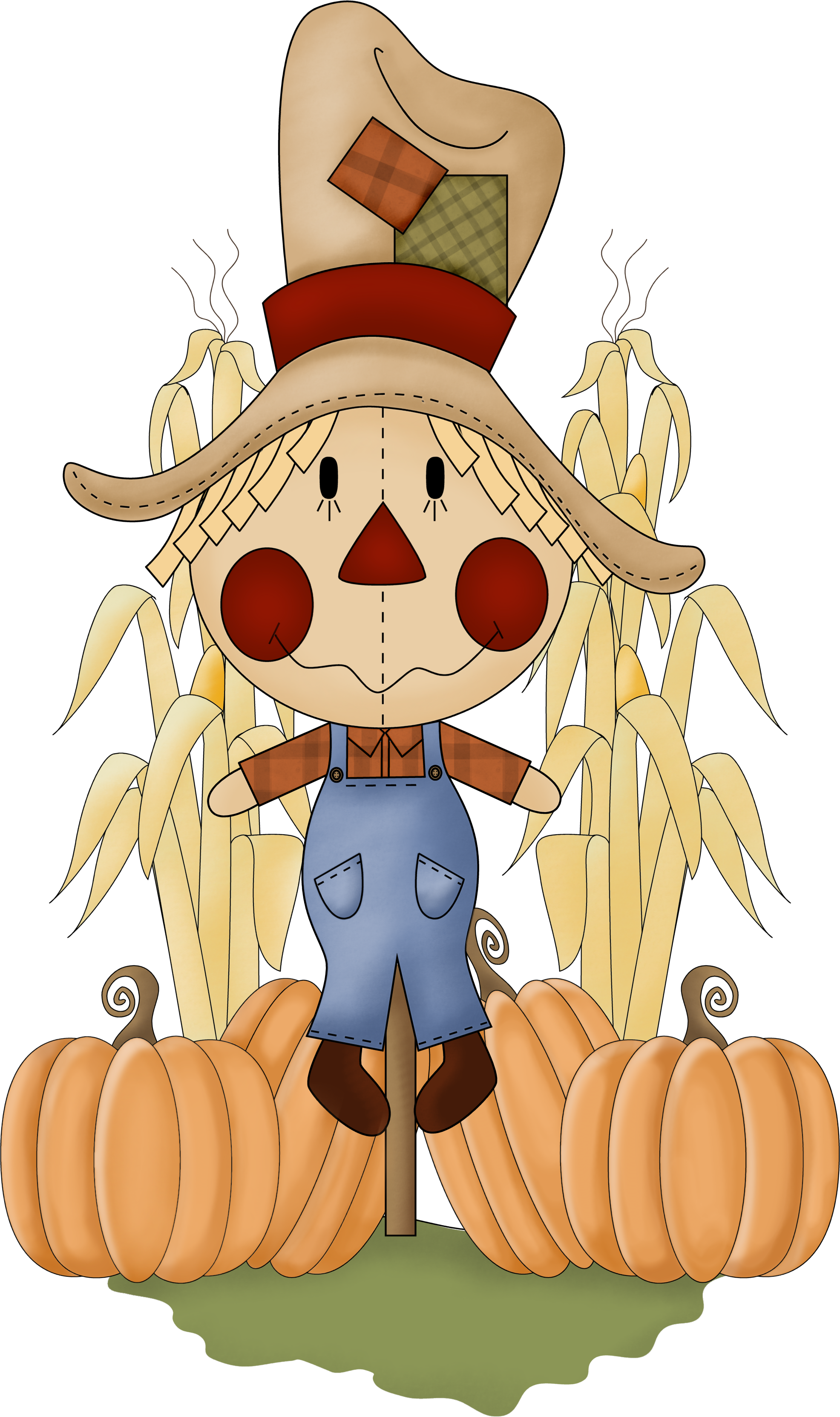Halloween clipart sentiments clip transparent library SCARECROW * | CLIP ART - FALL / AUTUMN - CLIPART | Pinterest ... clip transparent library
