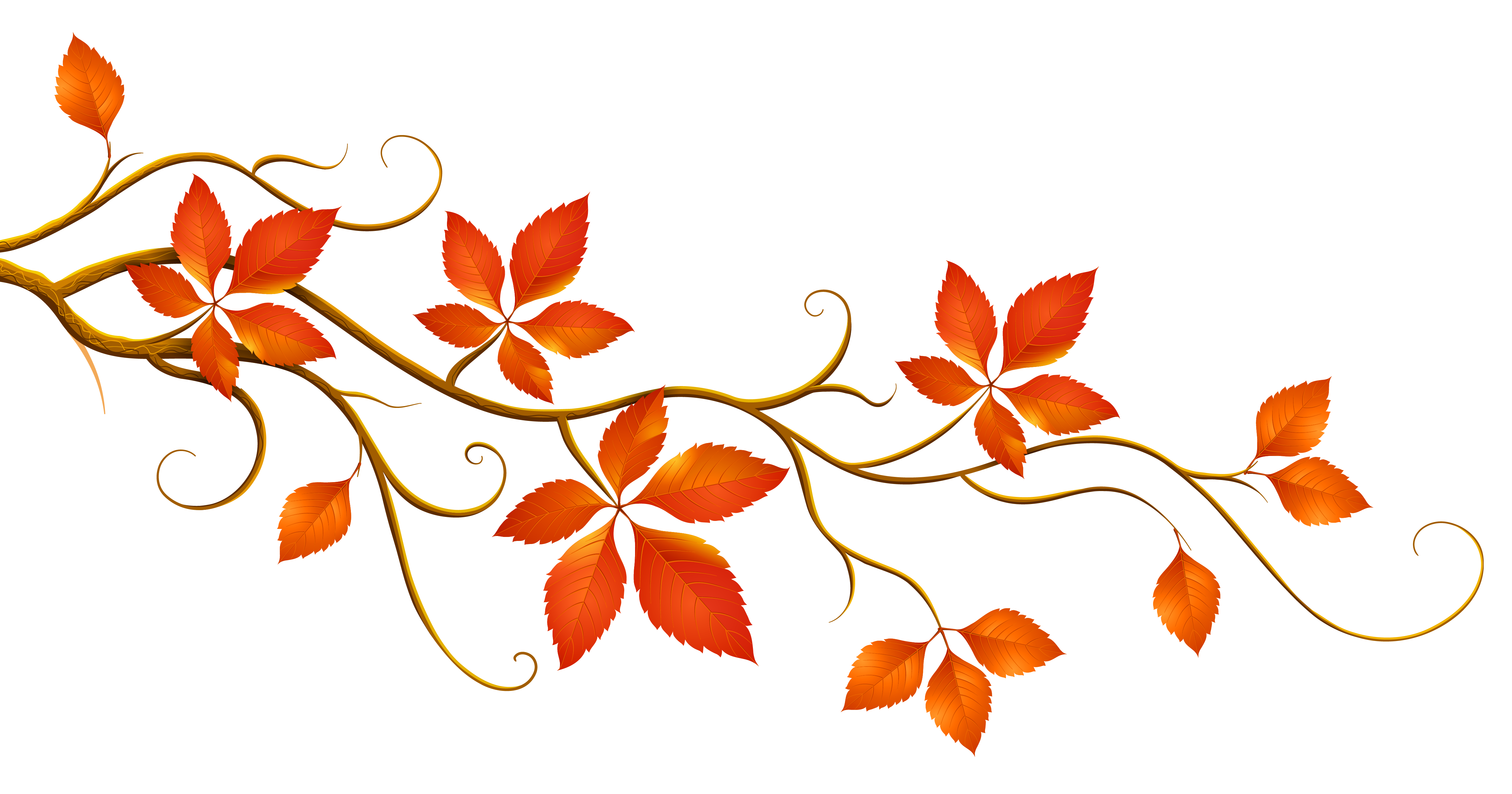 November flower clipart png stock Decorative Branch with Autumn Leaves PNG Clipart | Fall Templates ... png stock