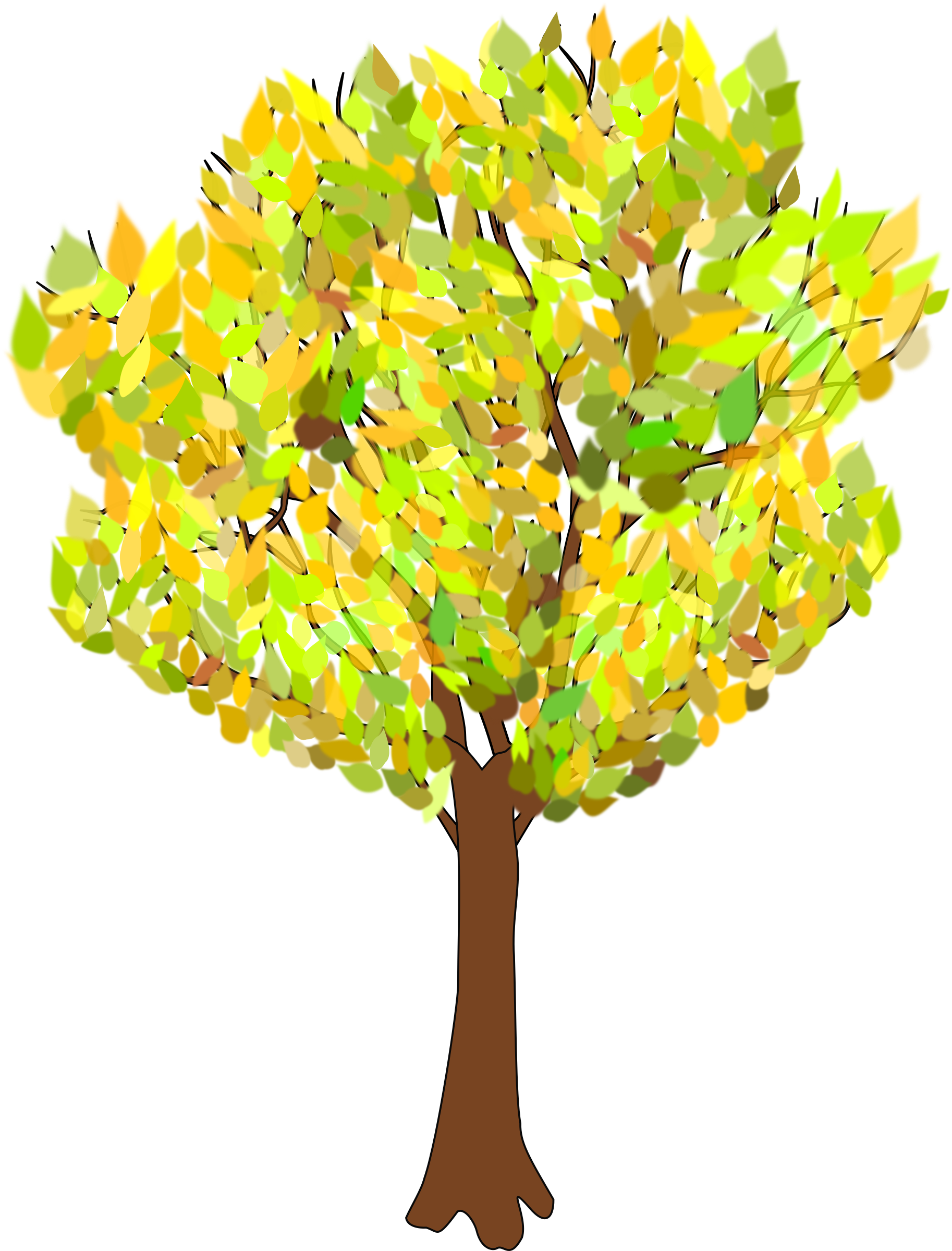 In autumn big image. Fall leaves tree clipart