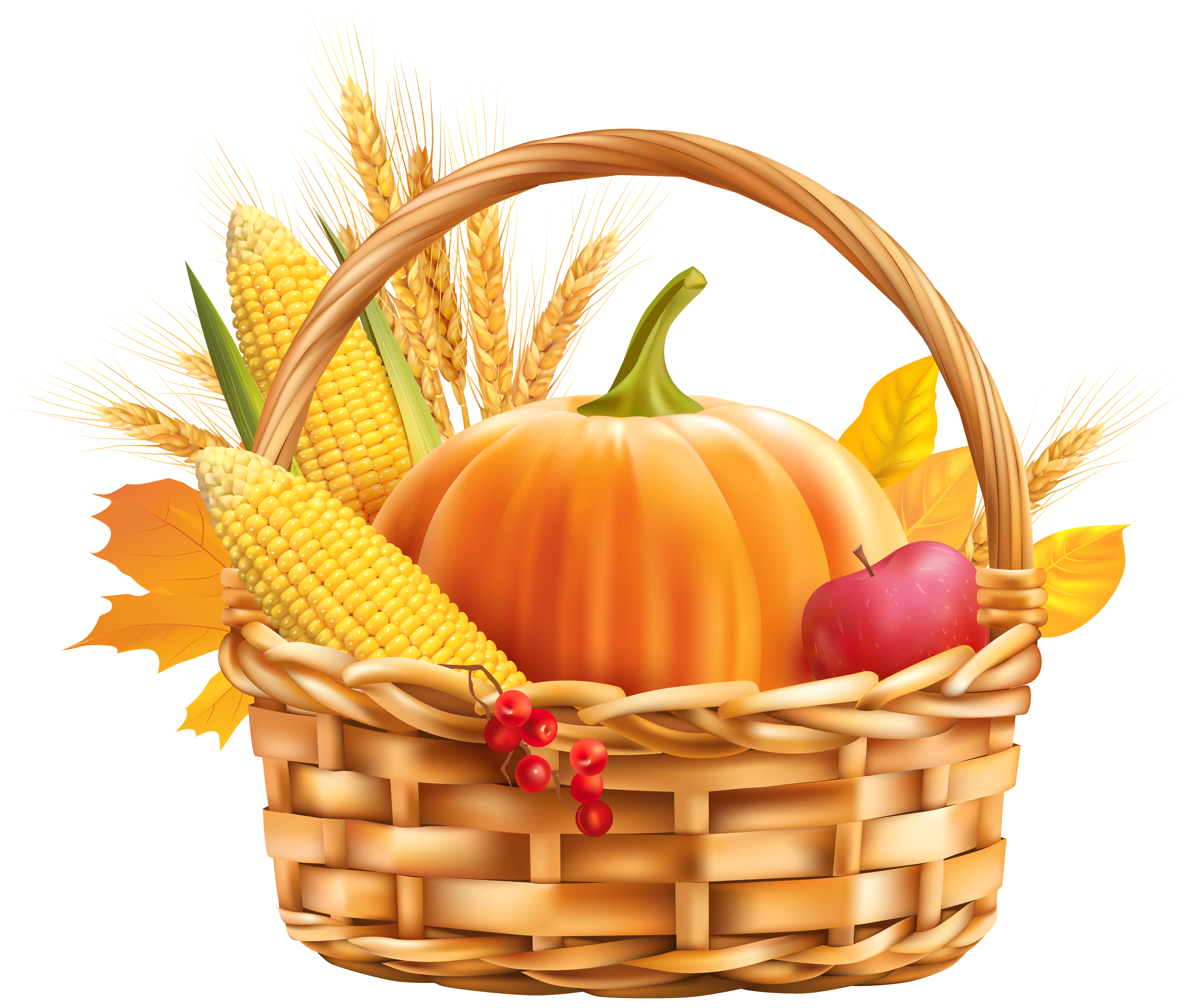 Fall harvest thanksgiving photo clipart clipart free stock Autumn Harvest Basket PNG Clipart Image | Gallery Yopriceville ... clipart free stock