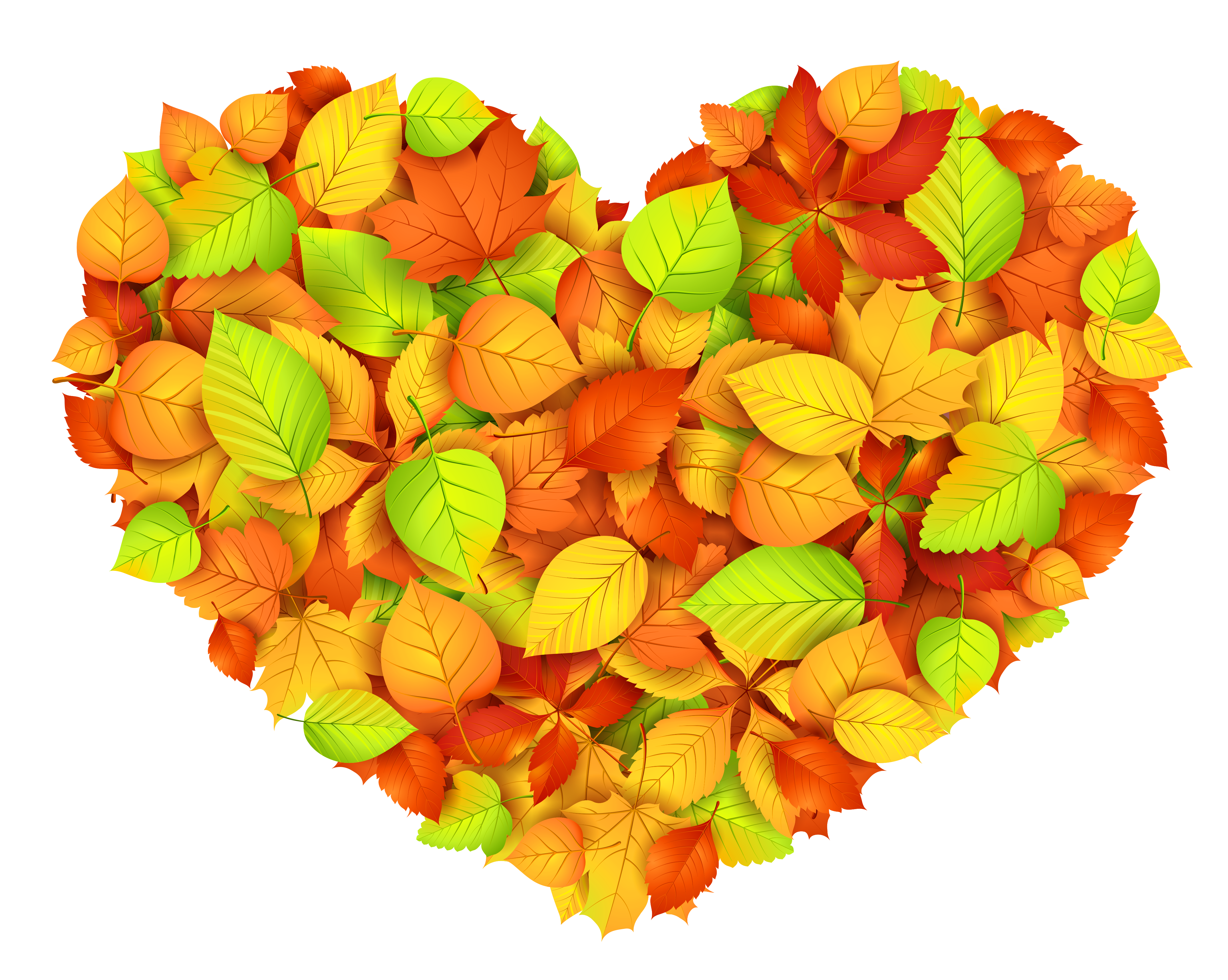 Autumn heart clipart vector free download Heart of Autumn Leaves Decor Transparent Picture | Gallery ... vector free download