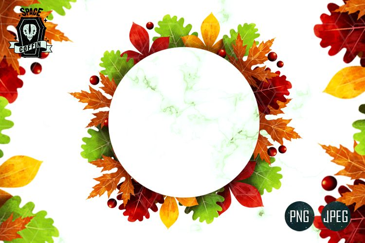 Autumn images clipart png free library Fall Autumn CLIPART Wreath PNG-JPEG png free library