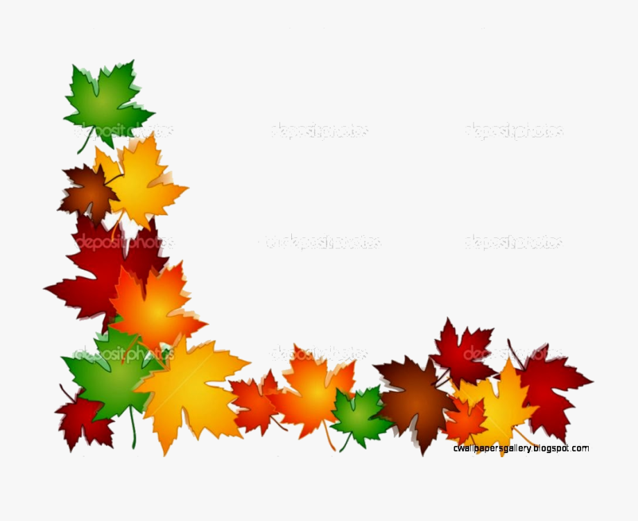 Autumn leaves borders clipart picture library Fall Border Leaves Clip Art Mewarnai X Transparent - Clip Art Autumn ... picture library