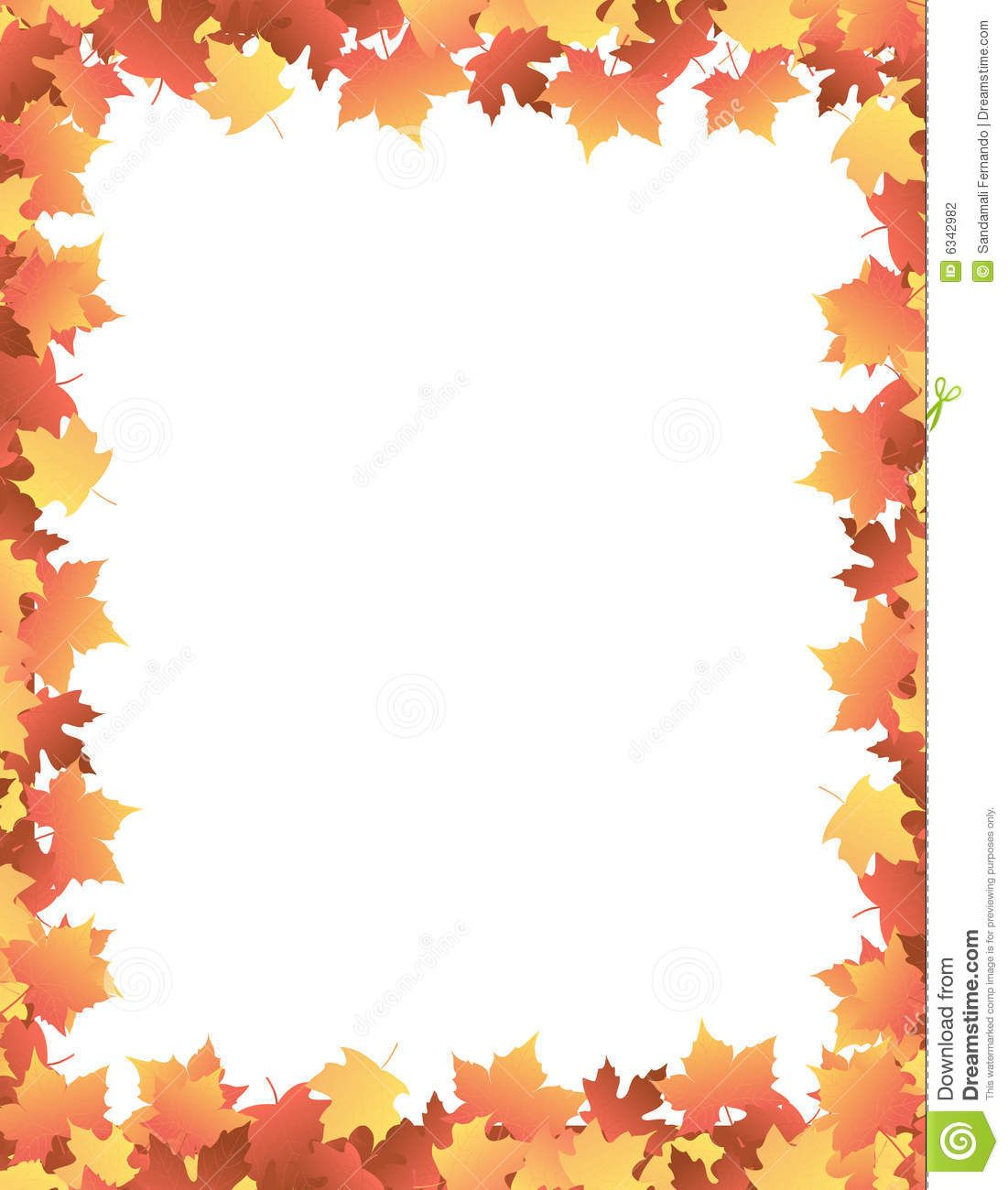 Autumn leaves clipart border royalty free download Fall Leaves Clip Art Border Recipe 101 | Thanksgiving | Leaf border ... royalty free download