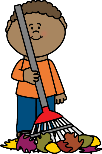 Raking leaves clipart free image download Boy Raking Autumn Leaves Clip Art - Boy Raking Autumn Leaves Image image download