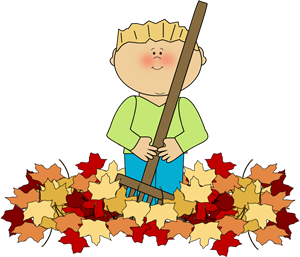 Autumn leaves kid clipart vector stock Boy Raking Leaves | Whoa Cozy Day of Autumn | Fall clip art, Clip ... vector stock