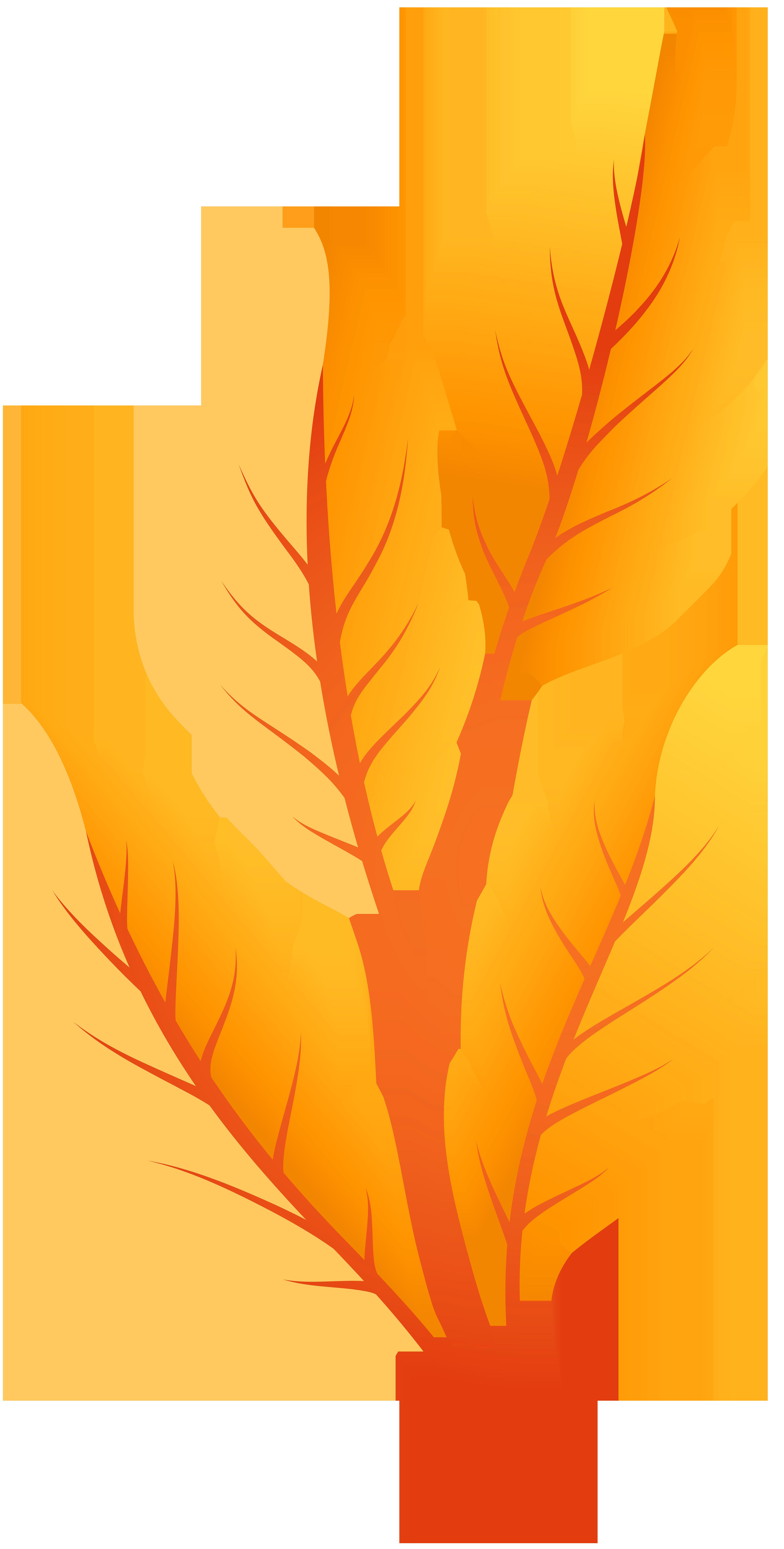 Free orange tree clipart jpg freeuse Orange Autumn Leaves PNG Clip Art - Best WEB Clipart jpg freeuse