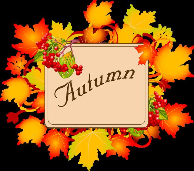 Autumn sun clipart