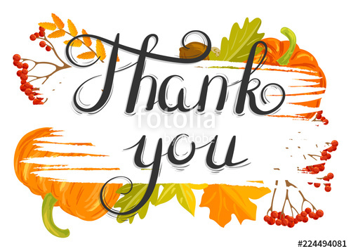 Autumn thank you clipart jpg royalty free library Thank you. Illustration with autumn leaf fall\