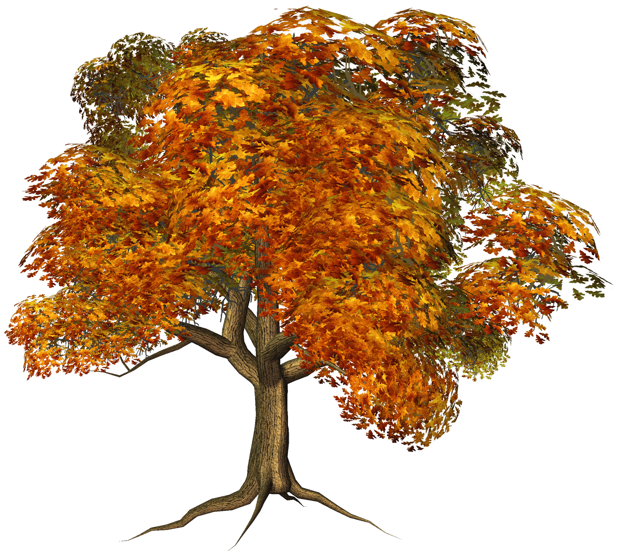 Brown tree clipart clipart freeuse stock Large Fall Tree Clipart | Gallery Yopriceville - High-Quality ... clipart freeuse stock