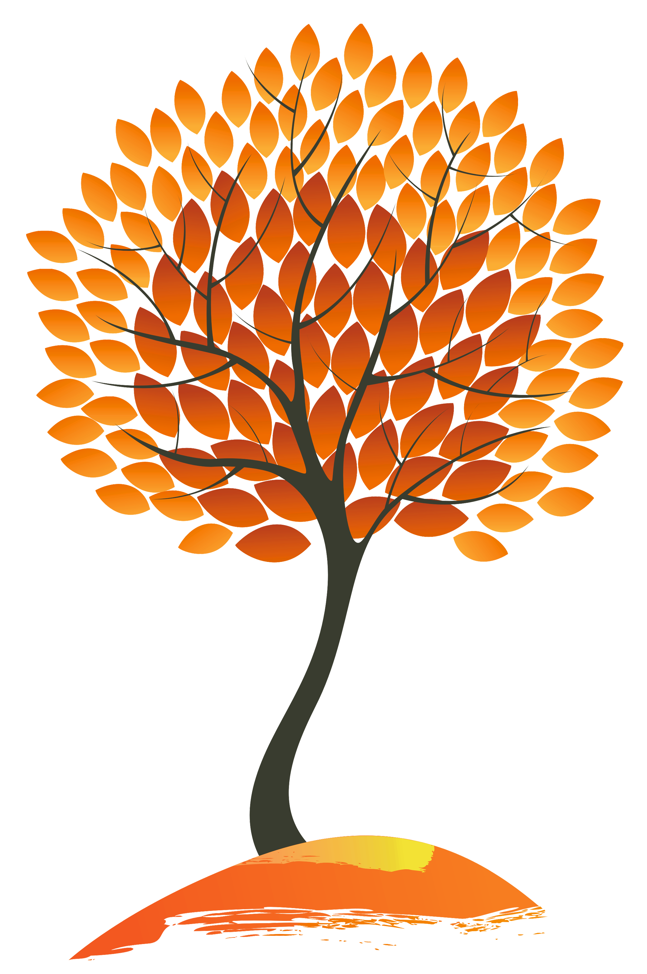 Orange tree clipart png royalty free library Autumn Tree PNG Clipart Image | Gallery Yopriceville - High-Quality ... png royalty free library