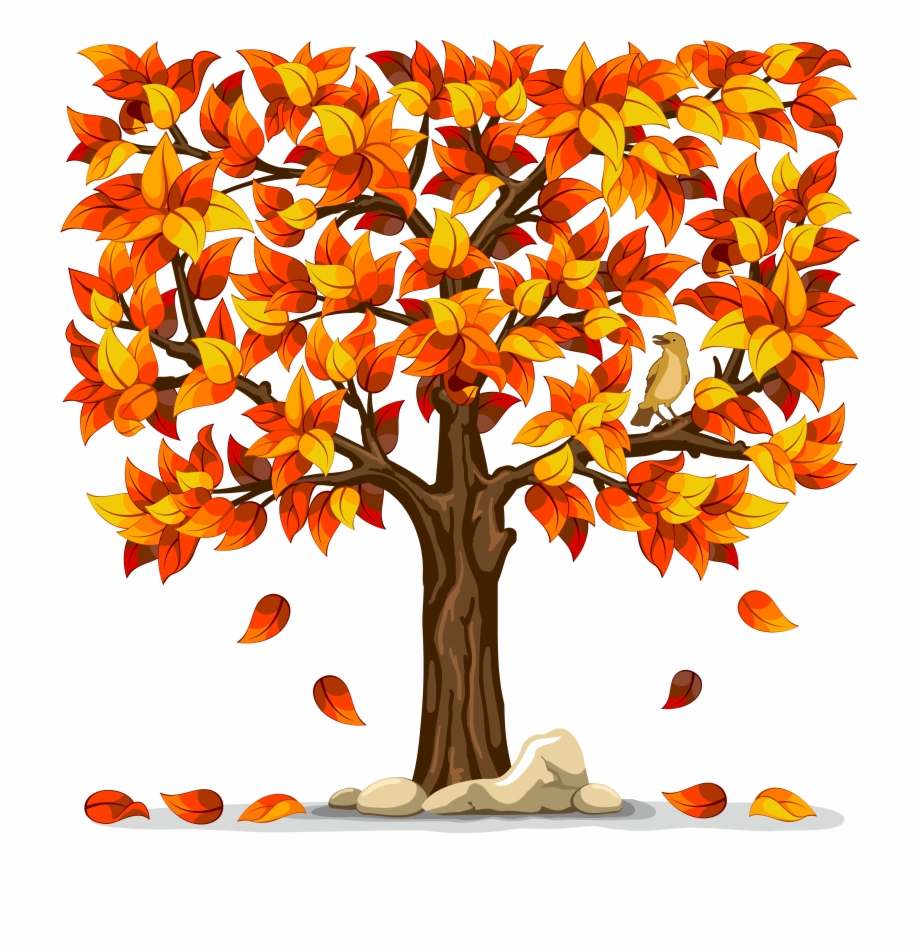 Autumn trees and leaves clipart image freeuse library Autumn - Tree With Falling Leaves Clip Art Free PNG Images & Clipart ... image freeuse library