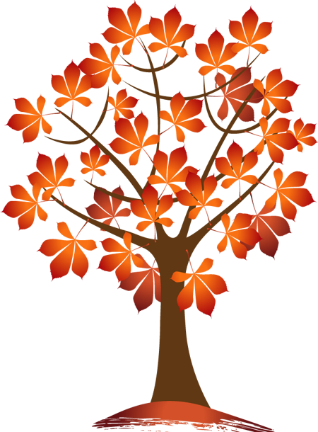 Autumn trees and leaves clipart vector transparent stock Autumn Trees and Leaves | autumn leaves pictures | Autumn trees ... vector transparent stock