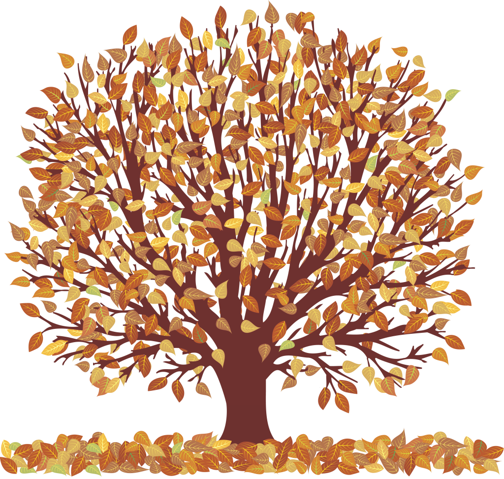 Autumn tree leaves clipart clip free Autumn Tree with Falling Leaves Transparent Picture | Gallery ... clip free