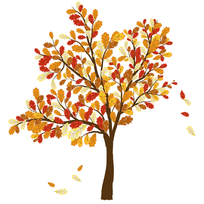 Autumn tree with hearts clipart clip art free library Clipart autumn tree - ClipartFest clip art free library