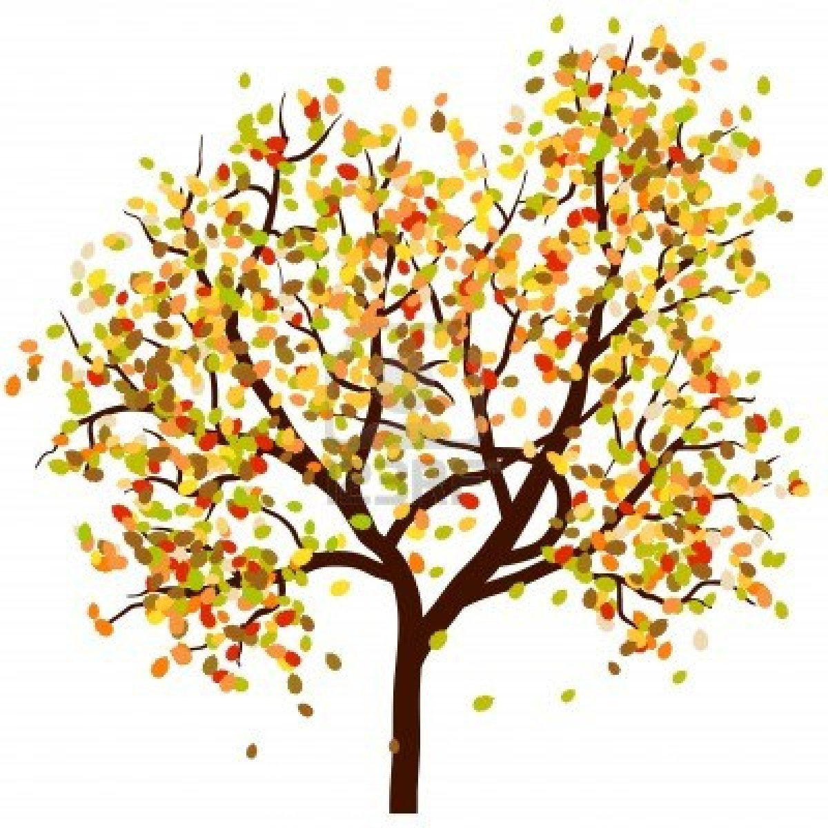 Autumn tree with hearts clipart. Fall leaves clipartfest falling