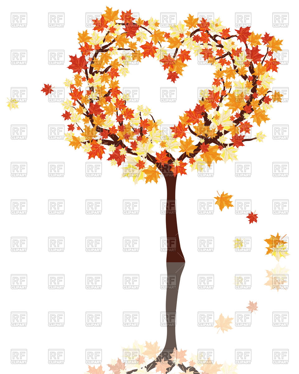 Autumn tree with hearts clipart svg royalty free Autumn tree with hearts clipart - ClipartFest svg royalty free
