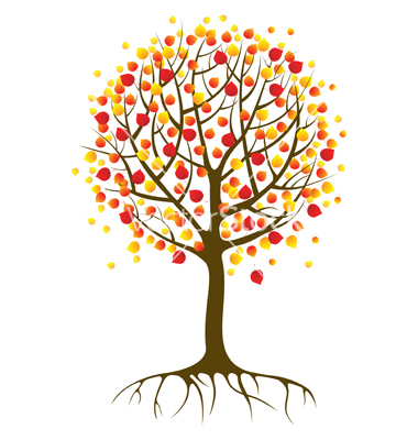 Autumn tree with hearts clipart vector free Autumn tree with hearts clipart - ClipartFox vector free