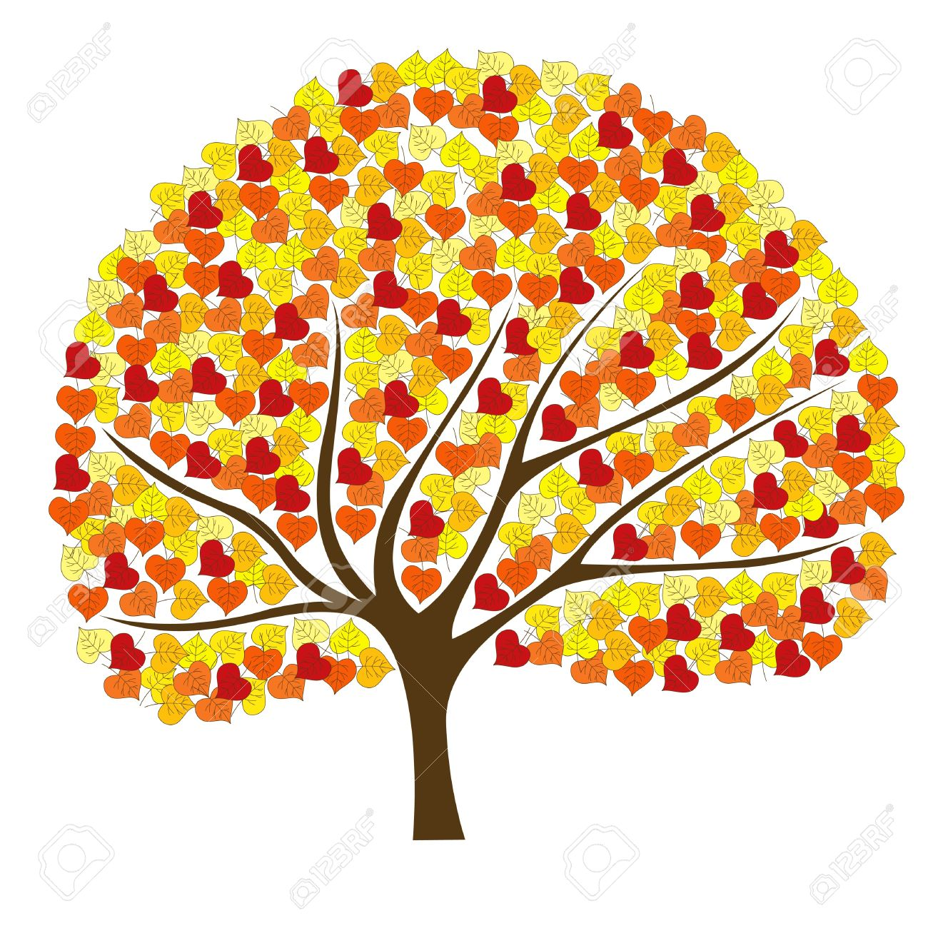 Autumn tree with hearts clipart picture free Autumn tree with hearts clipart - ClipartFox picture free