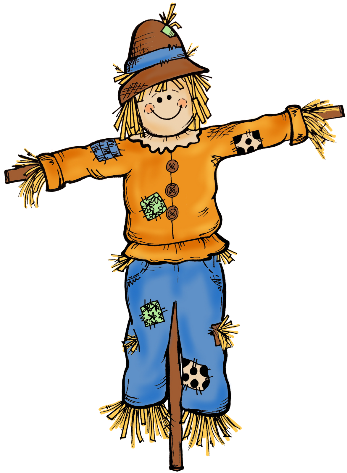 Halloween scarecrow clipart clipart transparent Fall Scenes Clip Art | ... sneak peak at some autumn clipart that ... clipart transparent