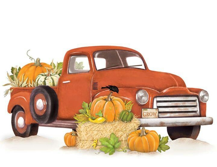 Autumn vintage wagon clipart svg transparent download Pumpkin Clipart truck 2 - 720 X 556 | Clippy - Seasons - Fall | Fall ... svg transparent download