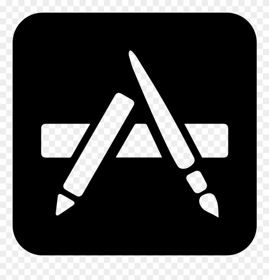 Available app store icon clipart clipart black and white Locatify App Store Publication - Ios App Store Icon Black Clipart ... clipart black and white