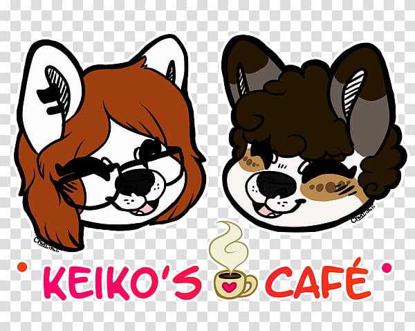 Available now clipart black and white library KEIKO&#;S CAFE Merch Available NOW transparent background PNG ... black and white library
