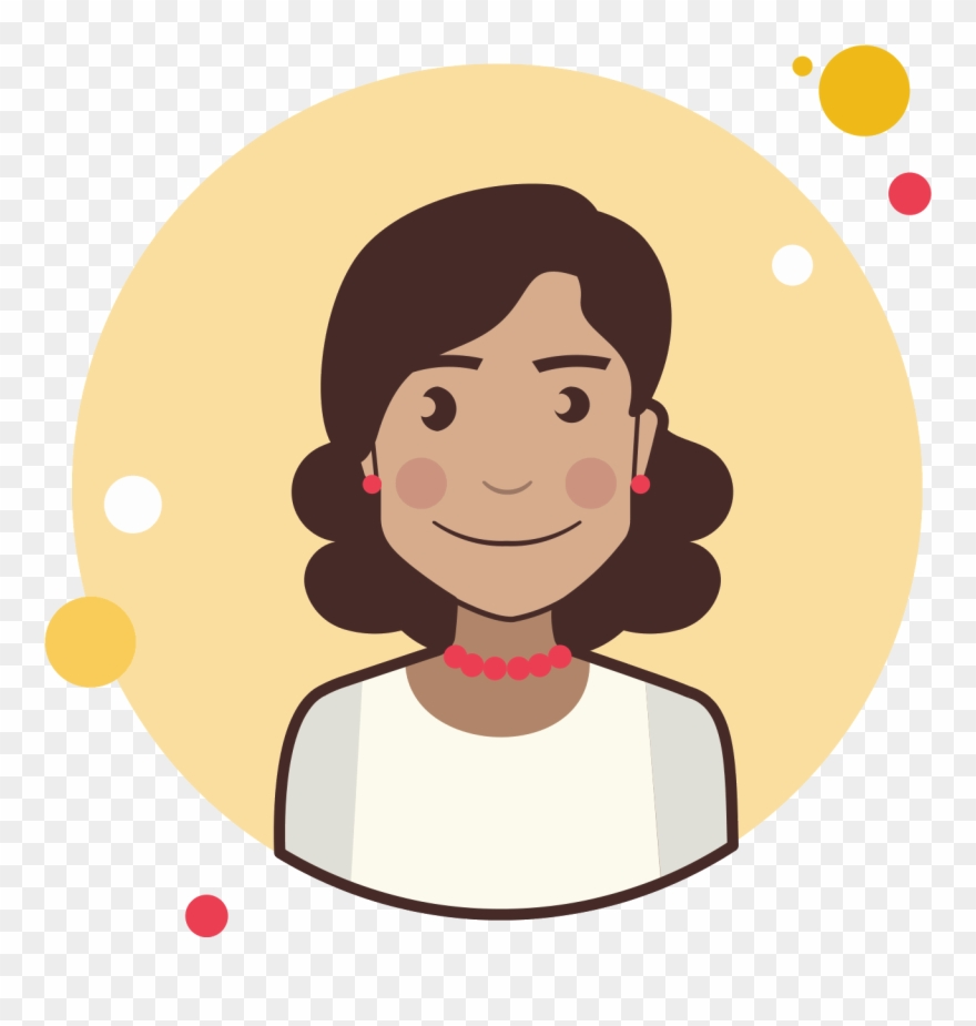 Avatar icon clipart woman wit curly hair png library download Brown Curly Hair Lady With Red Earrings Icon - Matematico Png ... png library download
