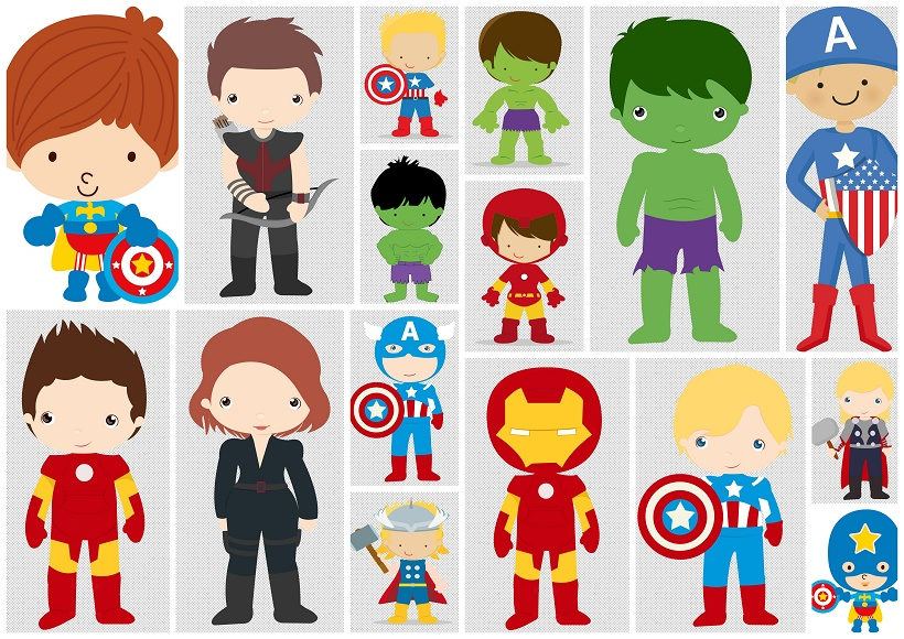 Avengers birthday 4 clipart clipart library download Avenger Babies Clipart. - Oh My Fiesta! for Geeks clipart library download