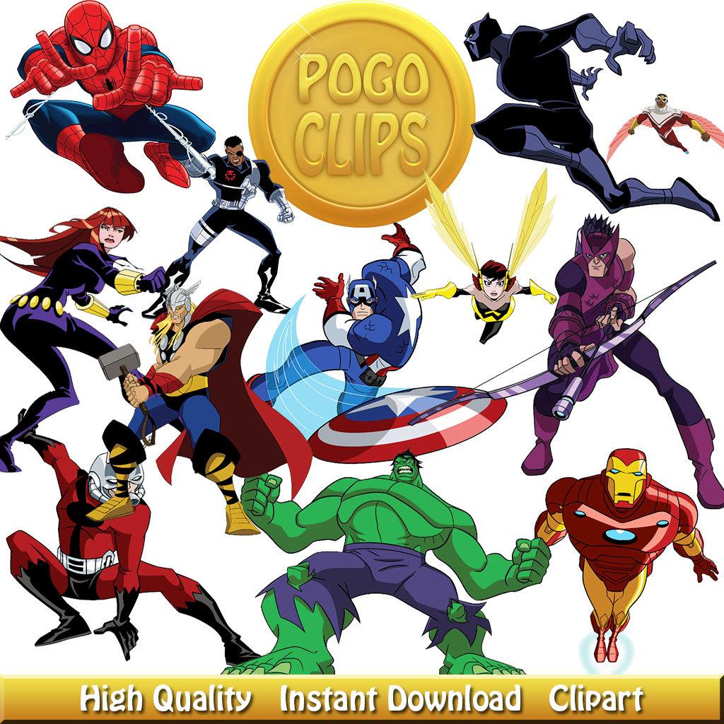 Avengers birthday 4 clipart banner 48 Avengers Clipart Characters Cartoon banner