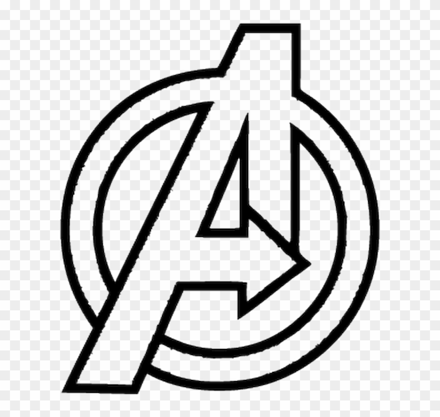 Avengers end game black and white clipart png picture freeuse download Avengers Logo White Png Clipart (#2027585) - PinClipart picture freeuse download
