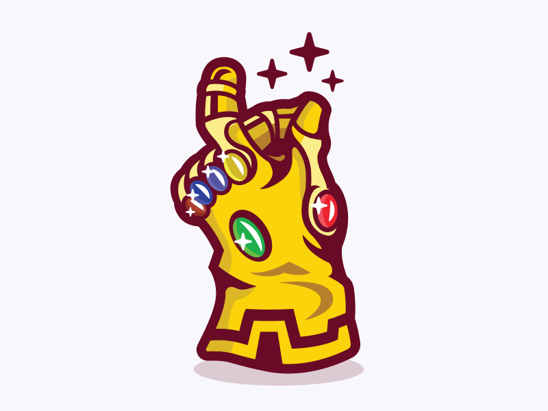 Avengers gauntlet logo clipart png library Infinity Gauntlet by Jamie Ferrato on Dribbble png library