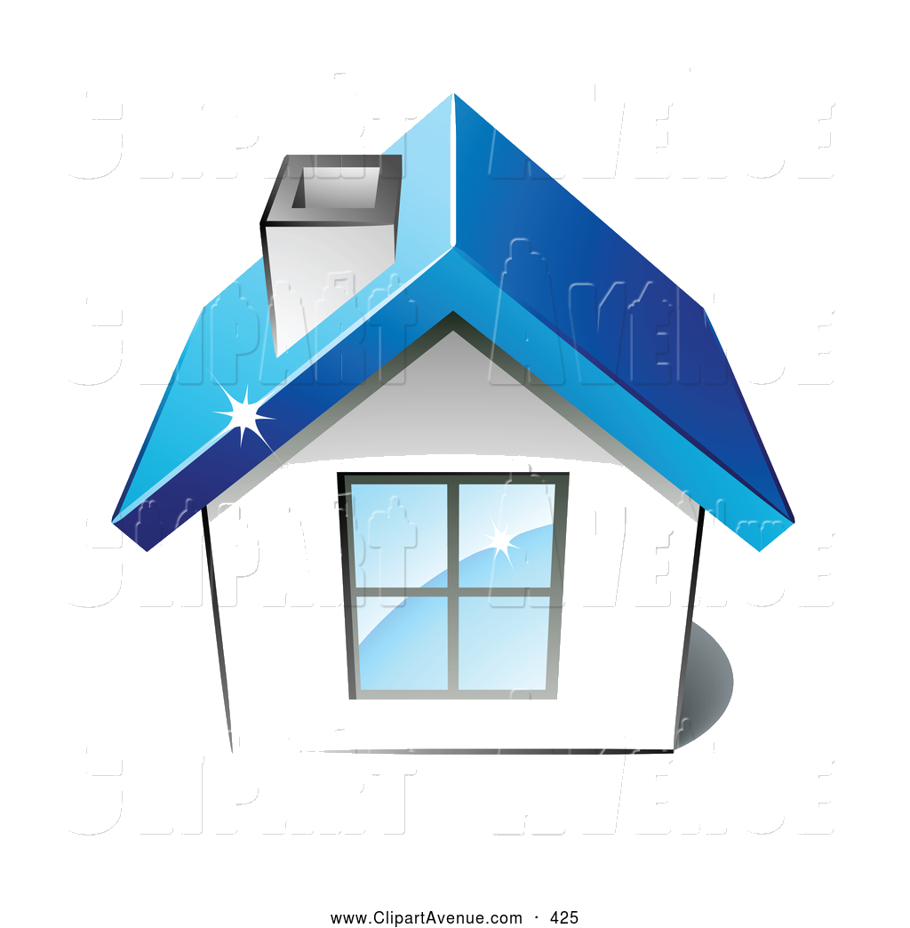 Avenue clipart image transparent download Roof Avenue Clipart Of Little White Home With Big Window Chimney And ... image transparent download