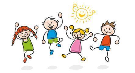 Avid kindergarten clipart children clipart black and white Sunnymeadows Elementary School clipart black and white